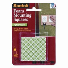 Precut Foam Mounting 1 Squares, Double-Sided, Permanent 16 Squares/pack