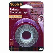 Exterior Weather-Resistant Double-Sided Tape, 1 x 60, Gray with Red Liner