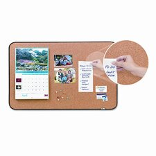 Sticky Cork Self-Stick 3' x 1.88' Bulletin Board