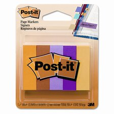 Page Markers, Five Neon Colors, Five Pads of 100 Strips Each, 500 per Pk