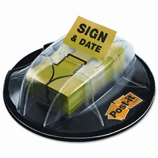 "Flag Dispenser, ""Sign & Date"", Bright Green, 200 Flags per Dispenser"