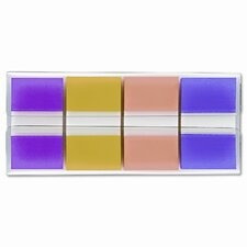 Flags in Portable Dispenser, Assorted, 160 Flags/Dispenser