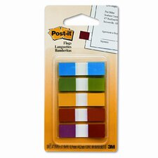 Small Flags in Dispensers, Five Colors, 20 per Color, 5 Dispensers/Pack