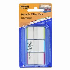 Durable Color Bar Index File Tabs, 1w x 1-3/4h, Four Colors, 66/pack