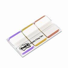 Durable Tabs, 1in, Green/Orange/Pink, 22/pack