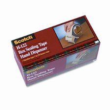 "Compact H122 Handheld Box Sealing Tape Dispenser, 3"" core, Plastic, Gray"