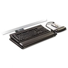 <strong>3M</strong> Sit/Stand Easy Adjust Keyboard Tray, Highly Adjustable Platform