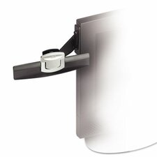 Swing Arm Copyholder, Adhesive Monitor Mount, Plastic, 30 Sheet Capacity