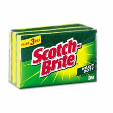 Scotch-Brite Heavy-Duty Scrub Sponge, 3/Pack