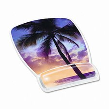 Gel Mouse Pad with Wrist Rest, Sunrise Design