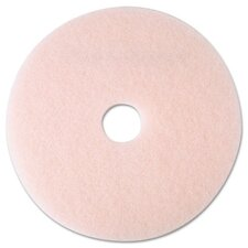 "Eraser Burnish Pad, 19"", Pink, 5 Pads/Carton"