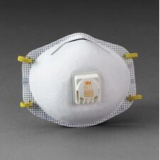 8211 N95 Particulate Disposable Respirator With Cool Flow™ Exhalation Valve, Face Seal And M-Noseclip - NIOSH 42CFR84 (10 Per Box)