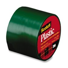 "Colored Plastic Tape, 1-1/2""x125"", 6 RL/BX, Green"