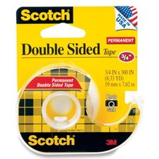 "Doubte-Sided Tape, Permanent, 3/4""x300"", Transparent"