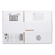 "Mailing Box,Size B,Labels Included,11-1/4""x8-3/4""x4"",White"
