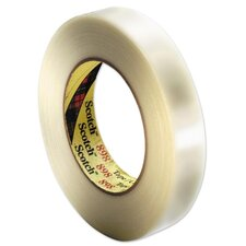 "Filament Tape, 3"" Core, 3/4""x60Yards, Clear"