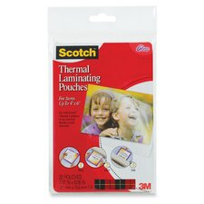 <strong>3M</strong> Scotch Photo Size Thermal Laminating Pouches, 5 Mil, 20/Pack