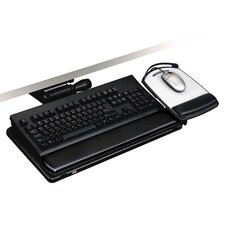 <strong>3M</strong> Easy Adjust Keyboard Tray, 19-1/2w x 10-5/8d, Black