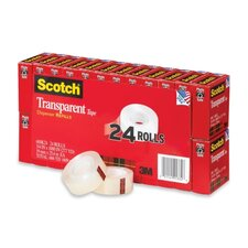 Scotch Transparent Tape, 24/Pack
