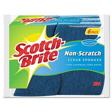 <strong>3M</strong> Scotch-Brite Non-Scratch Multi-Purpose Scrub Sponge, 6/Pack