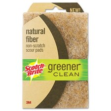 Scotch-Brite Greener Clean Non-Scratch Scour Pad, 2/Pack