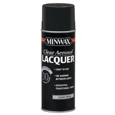 12.25 Oz Clear Brushing Lacquer Spray Satin