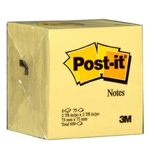 "3"" x 3"" 75 Sheet Canary Yellow Post-It Note"