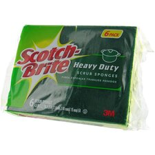 6 Count Scotch-Brite Heavy Duty Scrub Sponge