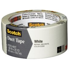 "<strong>3M</strong> 1.88"" x 20 Yards Scotch White Duct Tape"