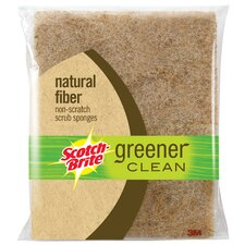 Scotch-Brite Greener Clean Natural Fiber Non Scratch Scrub Spo (2 Count)