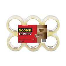 <strong>3M</strong> Scotch Commercial Grade Shipping Packaging Tape (6 Per Pack)