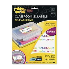 Post-it Classroom Identification Labels (5 Per Pack)