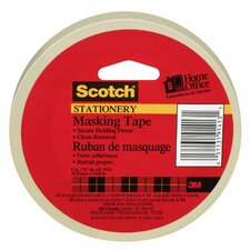"0.75"" x 180' Tan Scotch Home and Office Masking Tape"