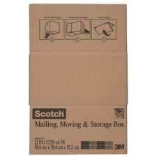 "12"" x 12"" x 6"" Scotch Shipping and Storage Box"