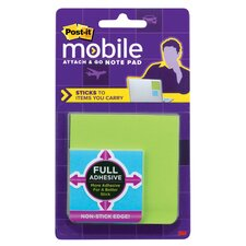 Post It Mobile Attach and Go Full Adhesive Note