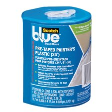 "24"" x 30 Yards Plastic Pre-Taped Painter's with Dispenser"