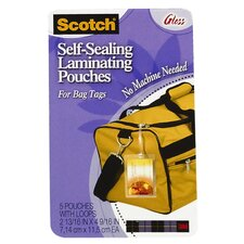 Self Sealing Laminating Bag Tag (5 Count)