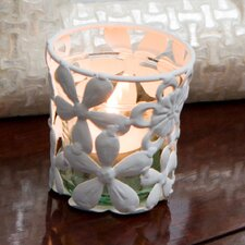 Metal Lace Floral Votive