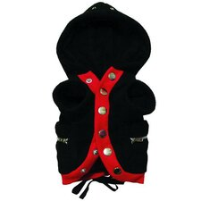 Fleece Parka Dog Coat in Black