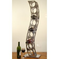 9 Bottle Cast and Polished Solid Aluminium Girder Wine Rack