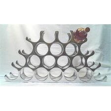 22 Bottle Cast and Polished Solid Aluminium Wine Rack