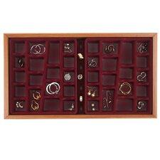36 Compartment Wood Jewelry Organizer