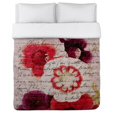 Oliver Gal Victor Hugo's Love Declaration Duvet Cover Collection