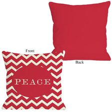 Holiday Peace Chevron Stripe Pillow