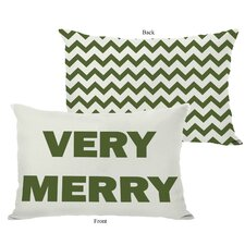 <strong>OneBellaCasa.com</strong> Holiday Very Merry Reversible Pillow