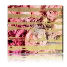 """Fields Of Rose"" Graphic Art on Canvas"