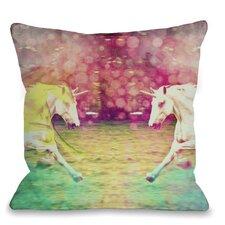 Mirrored Unicorns Pillow