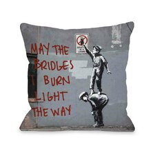 Crime Burn Bridges Pillow