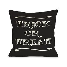 Trick or Treat Tattoo Letters Pillow