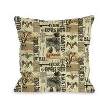 All Hallows Eve Collage Pillow